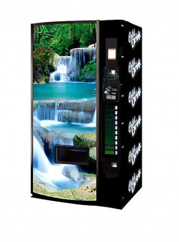 Vendo Model 540 12 oz Can Machine - Waterfall Scene Trade Style (Newest Graphics)