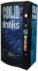 Vendo Model 540 12oz Can Machine - Cold Drink Bubbles