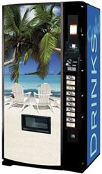 Vendo Model 540 12 oz Can Machine - Beach Scene