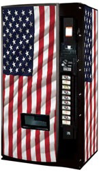 Vendo Model 540 12 oz Can Machine - US Flag