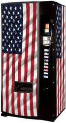 Dixie Narco Model 600E 12oz Can Machine - USA Flag