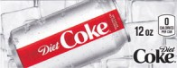 Diet Coke small size 12 oz can flavor strip