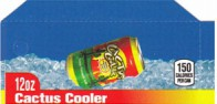 Cactus Cooler small size 12 oz can flavor strip