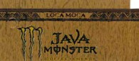 Monster Java Mocha Loca small size 16 oz can flavor strip