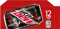 Mountain Dew Code Red  small size 12 oz can flavor strip