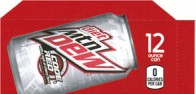 Mountain Dew Diet Code Red  small size 12 oz can flavor strip