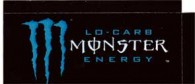 Monster Energy Lo Carb small size 16 oz can flavor strip
