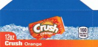 Orange Crush small size 12 oz can flavor strip