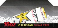 Rock Star diet can on ice small size 16 oz flavor strip