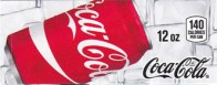 Coca Cola small size 12 oz can flavor strip