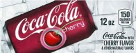 Cherry Coke small size 12 oz cans flavor strip