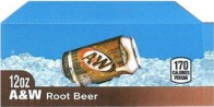 A&W Root Beer small size 12 oz can flavor strip