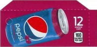 Wild Cherry Pepsi small size 12 oz can flavor strip