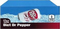 Diet Dr Pepper small size 12 oz can flavor strip