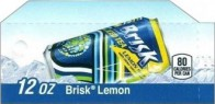 Lipton Brisk small size 12 oz can flavor strip
