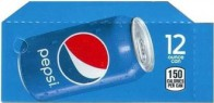 Pepsi Cola small size 12 oz can flavor strip