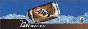 A&W Root Beer on ice large size flavor strip