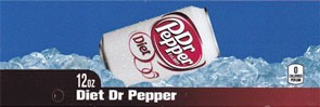 Diet Dr Pepper on ice large size flavor strip