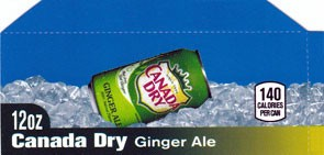 Canada Dry Ginger Ale small size flavor strip
